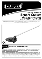 Instruction Manual for Draper Expert Brush Cutting Attachment For 14153 Petrol 5 In 1 Garden Tool And And 141 14161 Gta1