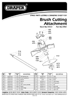 Parts List for Draper Expert Brush Cutting Attachment For 14153 Petrol 5 In 1 Garden Tool And And 141 14161 Gta1
