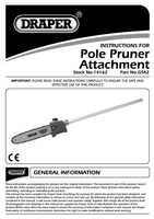 Instruction Manual for Draper Expert Oregon 250mm Pruner Attachment For 14153 Petrol 5 In 1 Garden Tool 14162 Gta2