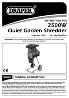Instruction Manual for Draper 2500W 230V Quiet Garden Shredder 23321 (GSQ2502)