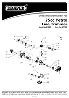 Parts List for Draper Expert 25cc Petrol Line Trimmer 31087 (GTP27)