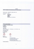 Material Safety Data Sheet for Draper D518 Flexible Gasket 31909 (DFG518)