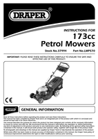 Instruction Manual for Draper Expert 173cc (4.9hp) 560mm 3 In 1 Self Propelled Petrol Mower 37994 (Lmp570)