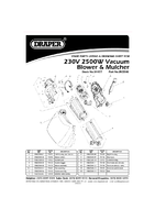 Parts List for Draper 2500w 230v Garden Vacuum/blower/mulcher 54477 (Bv2500)
