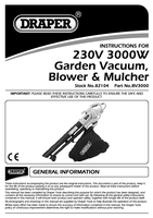Instruction Manual for Draper 3000w 230v Garden Vacuum/blower/mulcher 82104 (Bv3000)